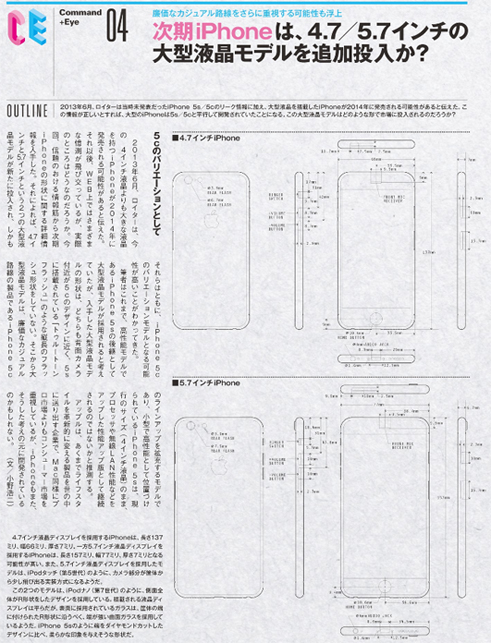 iPhone 6 Blueprints Leak, 4.7 inch and 5. inch Displays