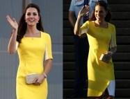 Kate Middleton Yellow Dresses