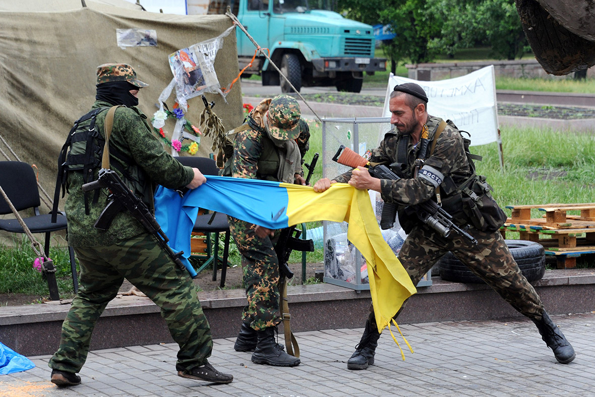 Pro-Russian militia eastern Ukraine flag