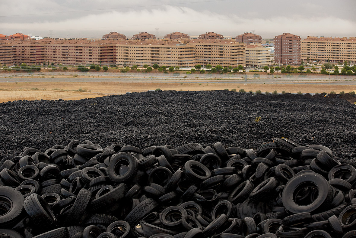 Millions Of Old Tyres Are Dumped Near Empty Apartment
