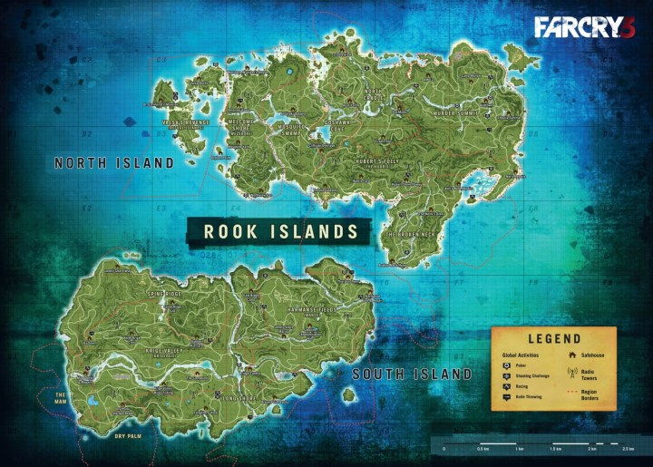 Far Cry 4 Leaked Map Reveals Full Extent Of Kyrat