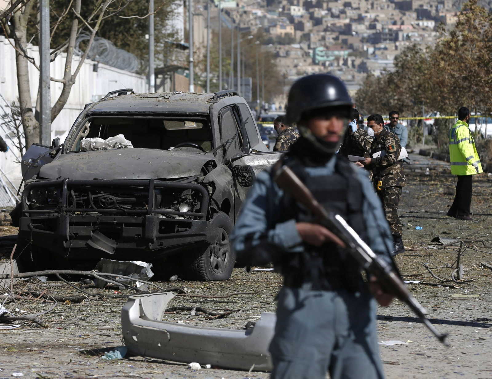 Afghanistan Car Bomb Attack At Kabul Foreign Green