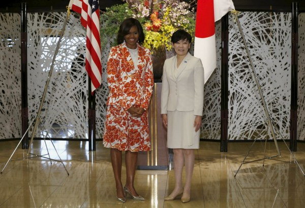 Michelle Obama Pushes Girls ' Education In Japan