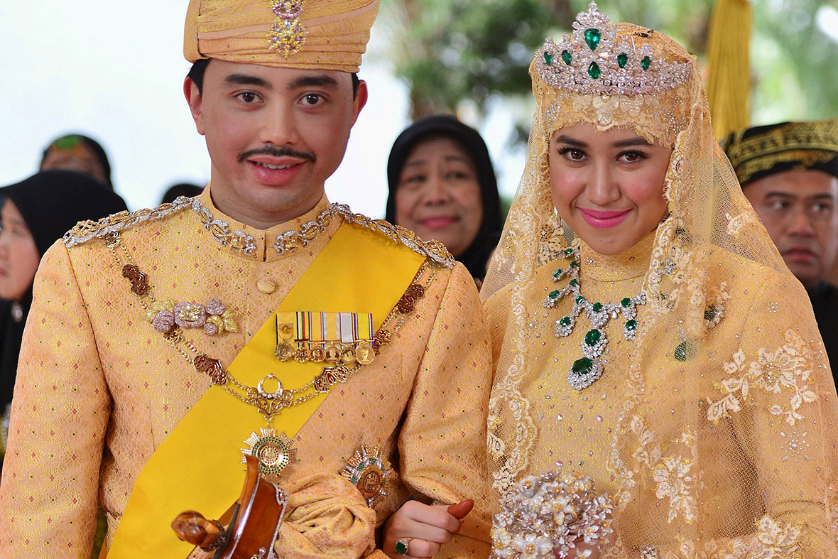 Casa Oliva Netherlands Brunei Royal Wedding And The Bride Wore Gold Diamonds