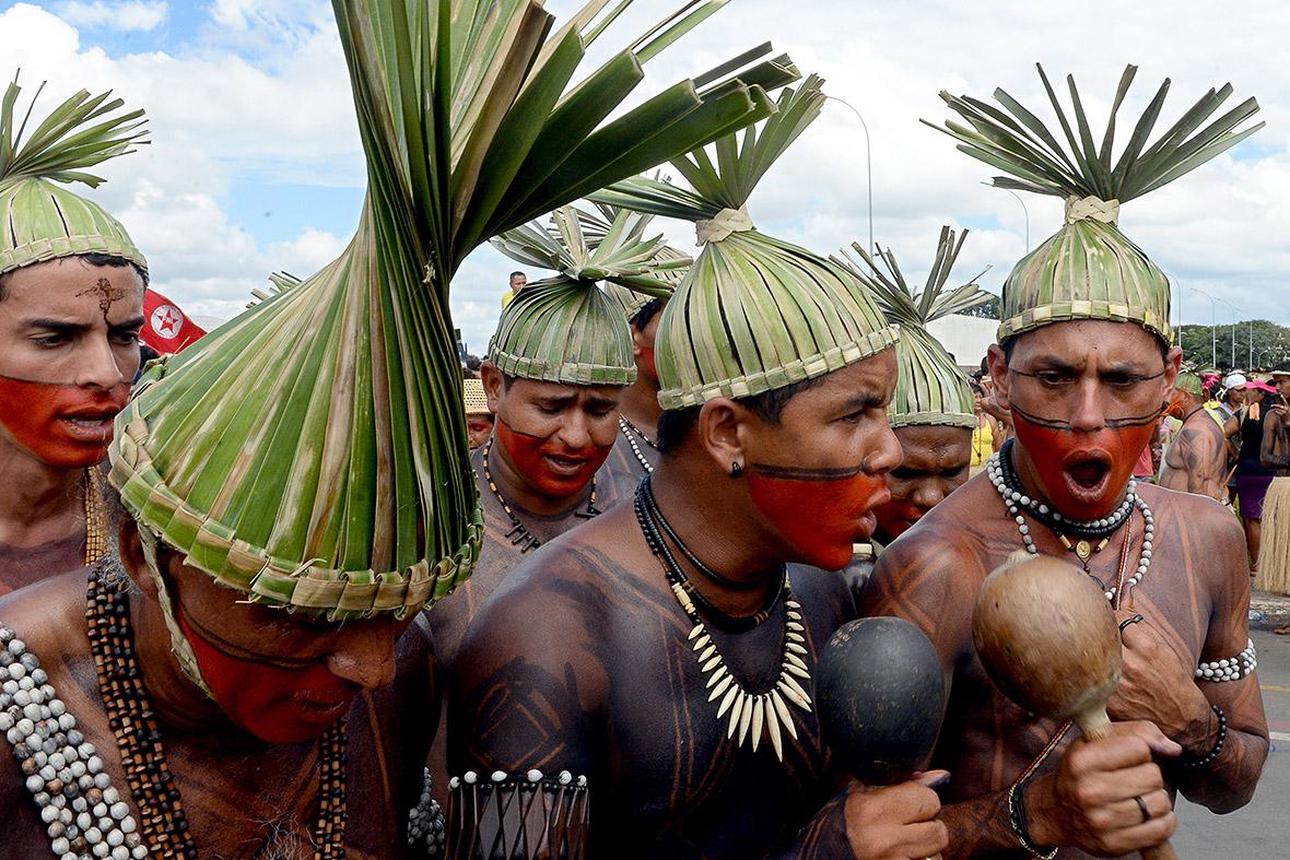 brasilia indigenous protest