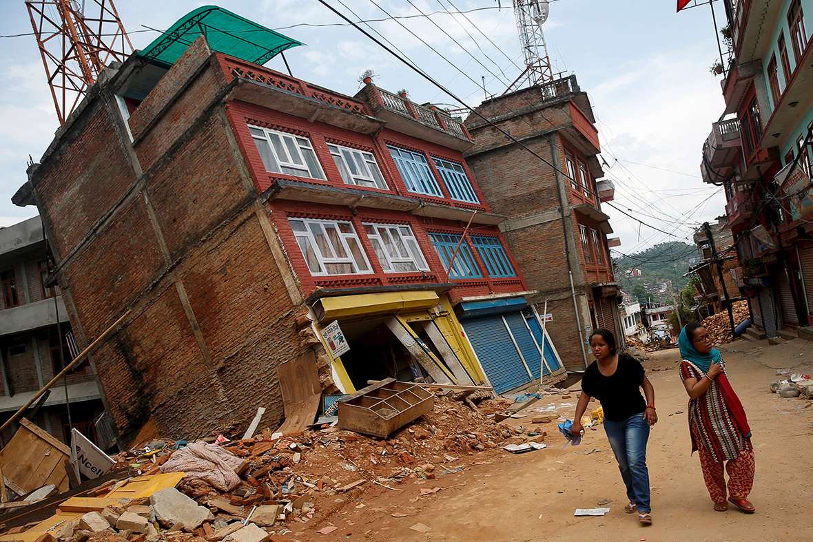 Nepal Buildings Lean Precariously In Aftermath Of Second