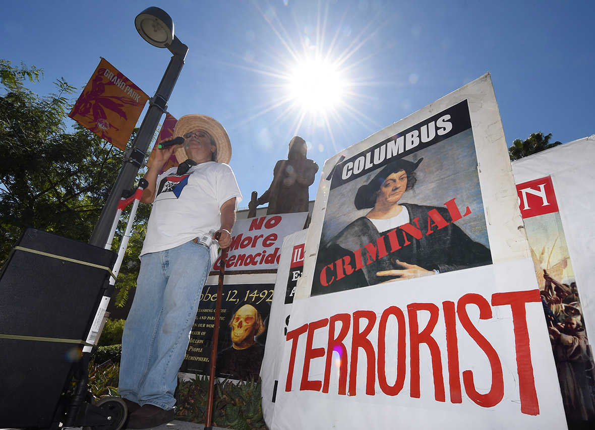 Columbus Day: Protesters call Christopher Columbus a ...