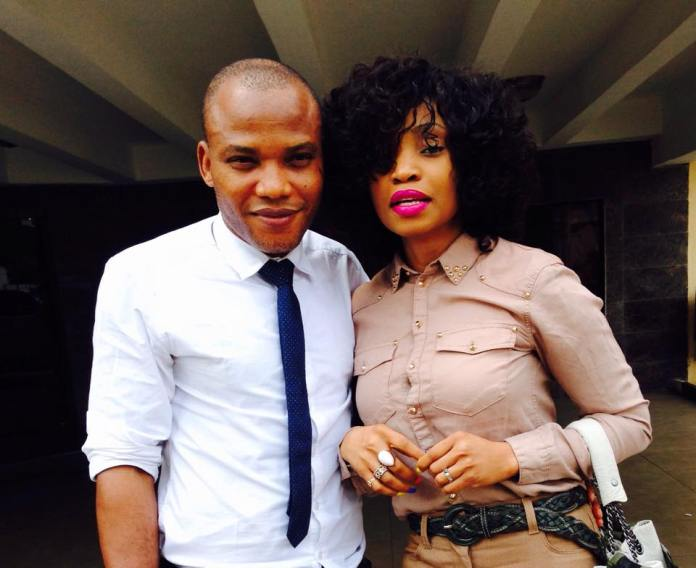 Image result for nnamdi kanu and wife