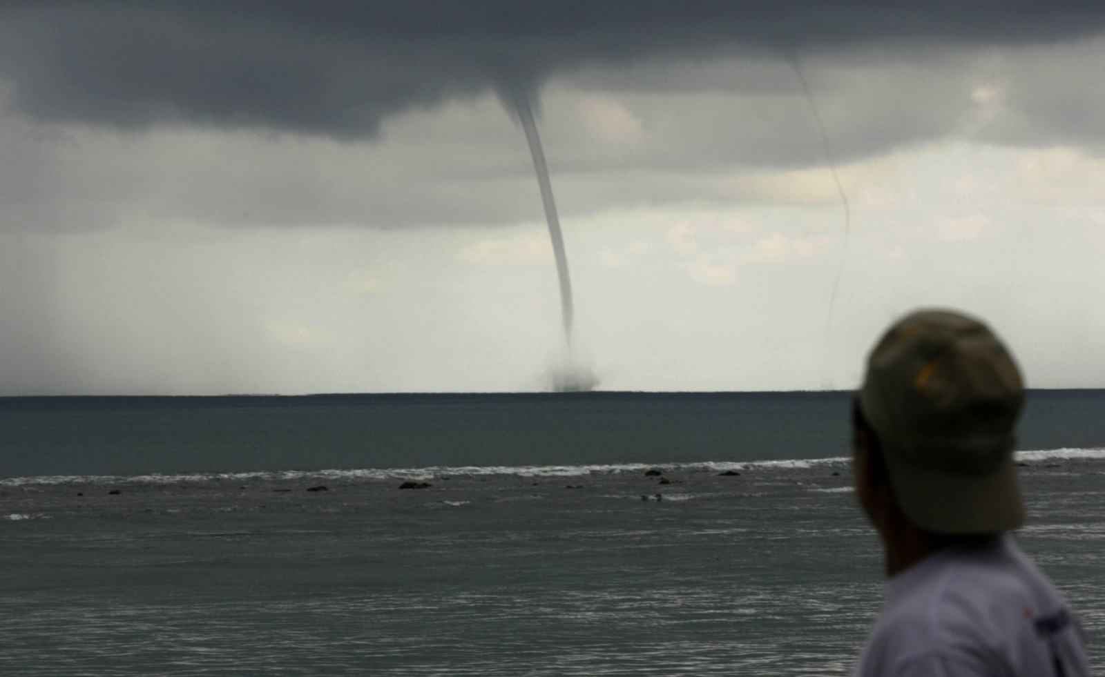 Waterspout seen off coast of Thorpeness in Suffolk