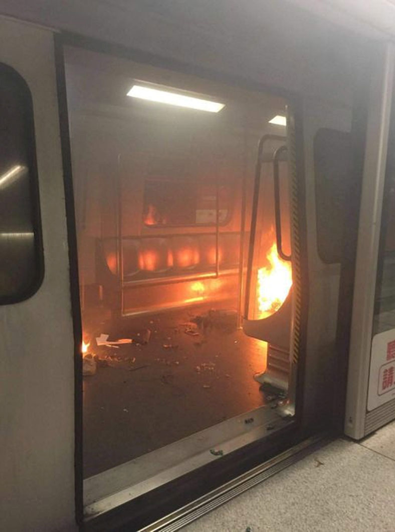 Hong Kong Self Immolation Scare Train Evacuated After