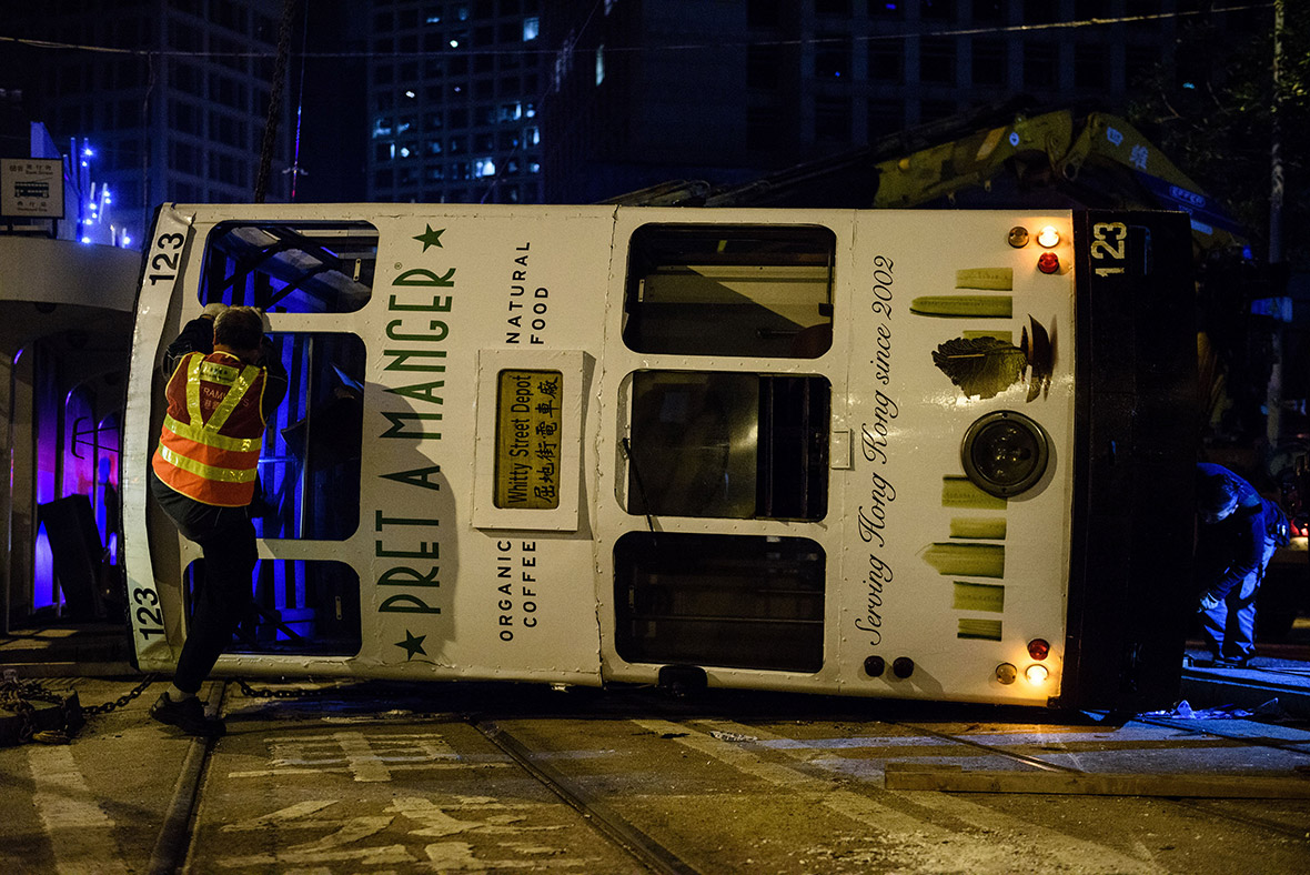 Hong Kong Tram Driver Arrested After Vehicle Topples Over
