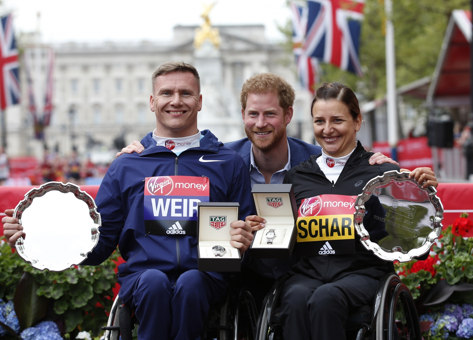 wheelchair marathon home depot patio chair cushions prince william kate middleton and harry inspire