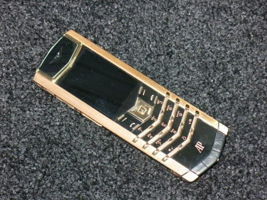 Gold Vertu Signature phone