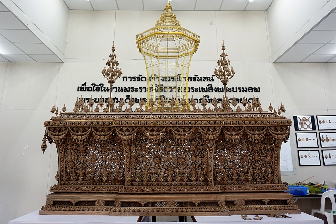 Thailand king funeral  Thailand's elaborate golden cremation complex for King Bhumibol Adulyadej who died a year ago thailand king funeral