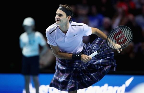In Scotland Roger Federer Wears Kilt