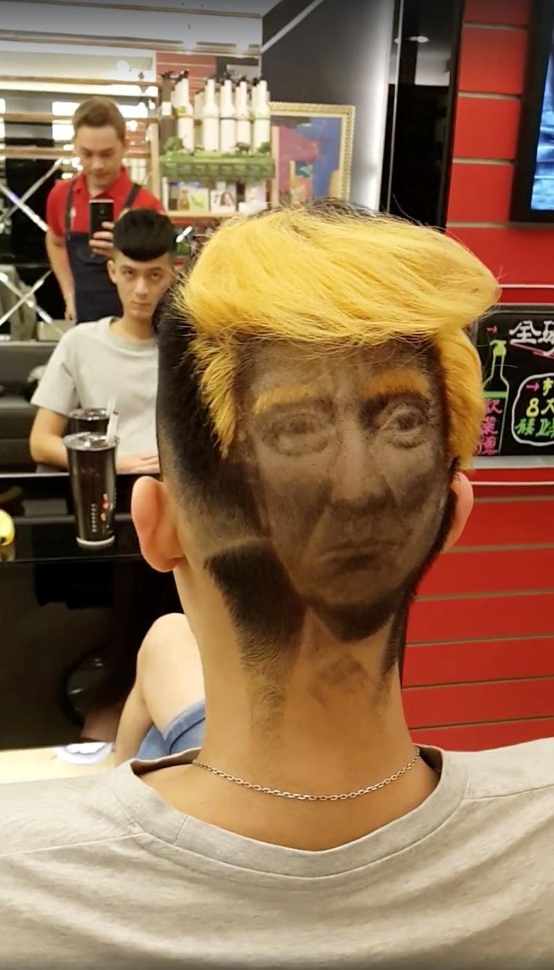 Hairdresser Creates Incredible Donald Trump Portrait On
