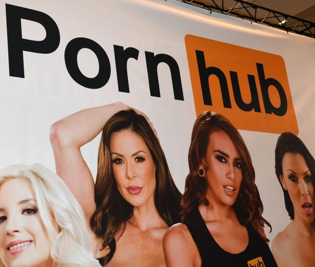 A Sign At The Pornhub Booth Is Displayed At The  Avn Adult Entertainment Expo At The Hard Rock Hotel Casino Ethan Miller Getty Images