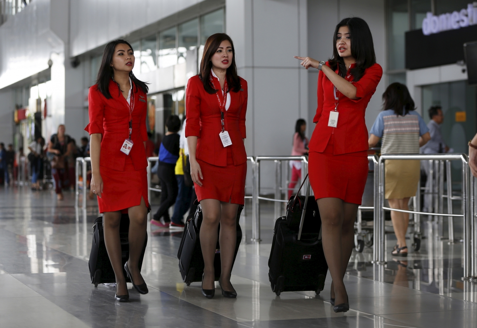 Uniforms worn by stewardesses on Malaysian airlines