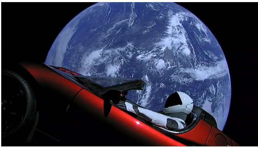 Tesla Car In Space Wallpaper Officially Debunked Flat Earth Conspiracy Theorists