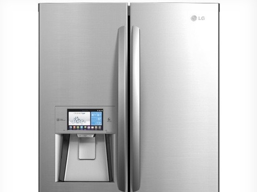 kitchen supplies stores commercial degreaser for ces 2012: lg 'smart fridge' orders food, provides recipes ...