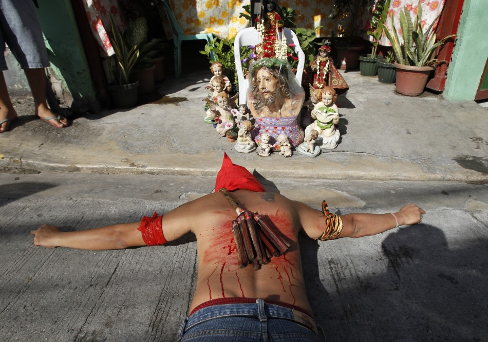 Easter in Philippines Crucifixion and SelfFlagellation