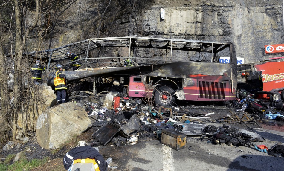 French Alps Coach Crash Fireball Horror Leaves One Briton Dead and Many Injured