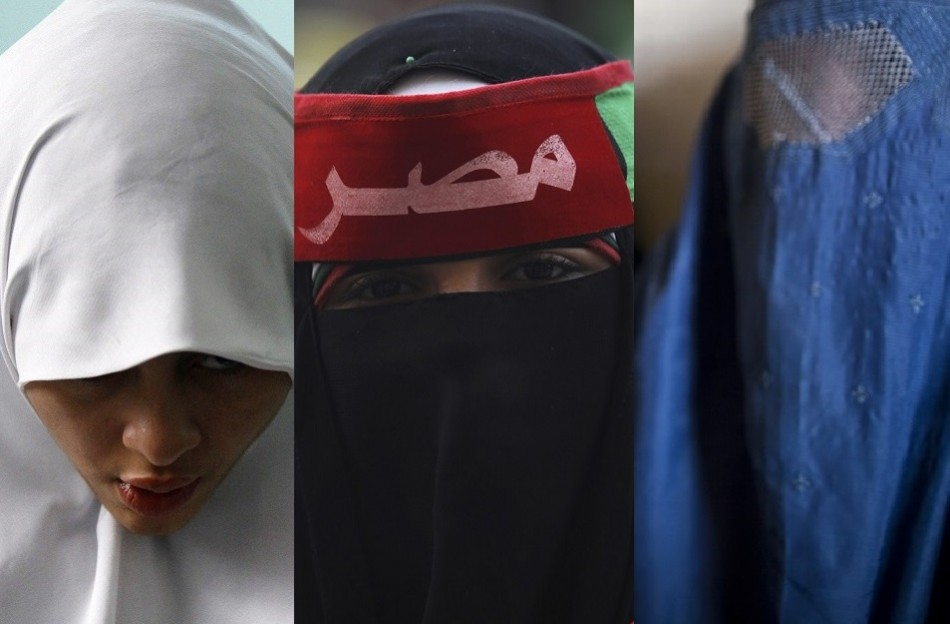 It covers a woman's hair, as it falls to the middle of her back. Muslim Veil Row: The Hijab, Niqab and Burqa Explained