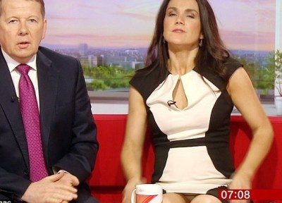 BBCs Susanna Reid Has Basic Instinct Moment Live On Air