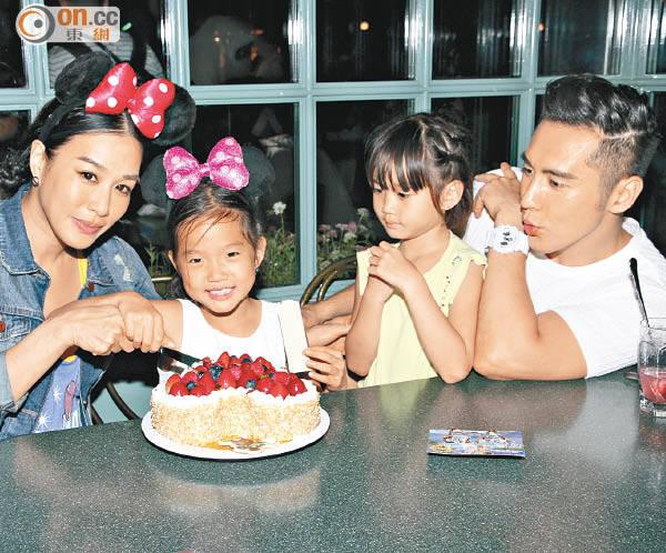 鍾麗緹為二女兒慶生 小12歲男友貼身陪伴