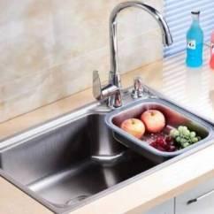 24 Kitchen Sink Bronze Faucet 厨房到底安装单水槽好还是双水槽好 厨房水槽什么材质好