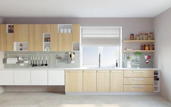 island kitchen ideas for ikea 想法够大胆 这样进行厨房装修 厨房的装修非常时尚 周围采用落地窗的设计 使得厨房显得非常敞亮 将燃气灶和油烟机放在了中岛的位置 背后还有原木色的橱柜 橱柜的储物格设计非常合理 能够为 厨房
