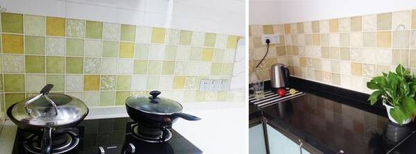 kitchen back splashes beige paint colors for 一家三代得癌症 原因竟然隐藏在厨房 你家是不是也中招了 这款厨房的防油贴纸非常好的帮助我们有效的阻挡油渍的飞溅 这款贴纸采用的是防水防油的材质 只要有油污那么用抹布擦一擦就可以了 是环保的材料 而且自带的背胶非常