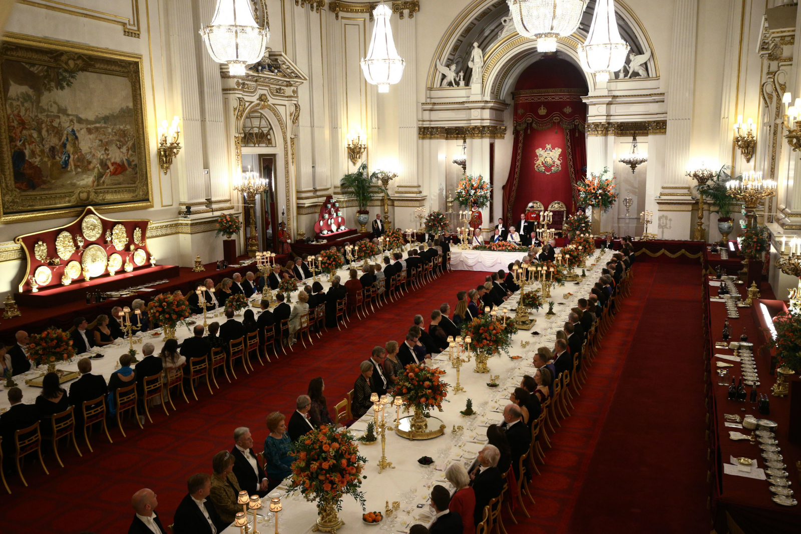hight resolution of donald trump buckingham palace banquet queen elizabeth ii puts on lavish spread for her american guest