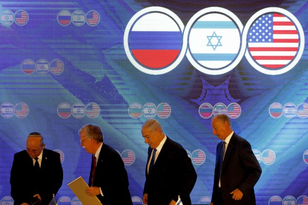 israel russia us bolton netanyahu
