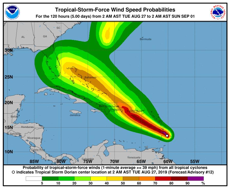 tropical storm dorian updates