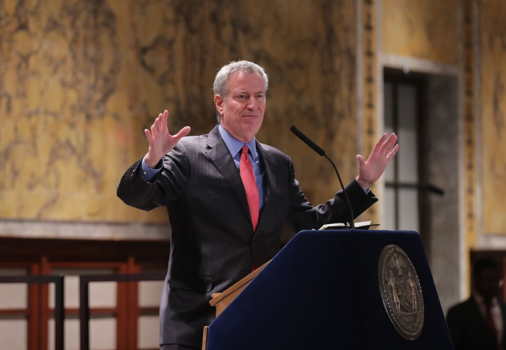 New York Mayor Bill de Blasio Criticizes Michael Bloomberg For 'Masking' a Lifetime of 'Supporting Those In Energy' With Television Ads