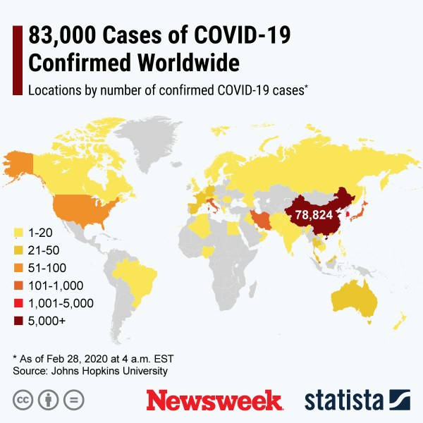 Coronavirus Update, Map As More Than 4,000 People Infected Outside ...
