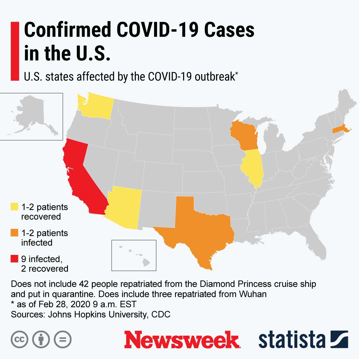 Coronavirus Update: Map Shows 60 U.S. Cases as Officials Prepare ...
