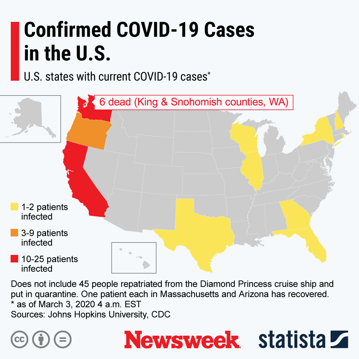 Coronavirus U.S. Outbreak Update As New Cases Confirmed in Georgia ...