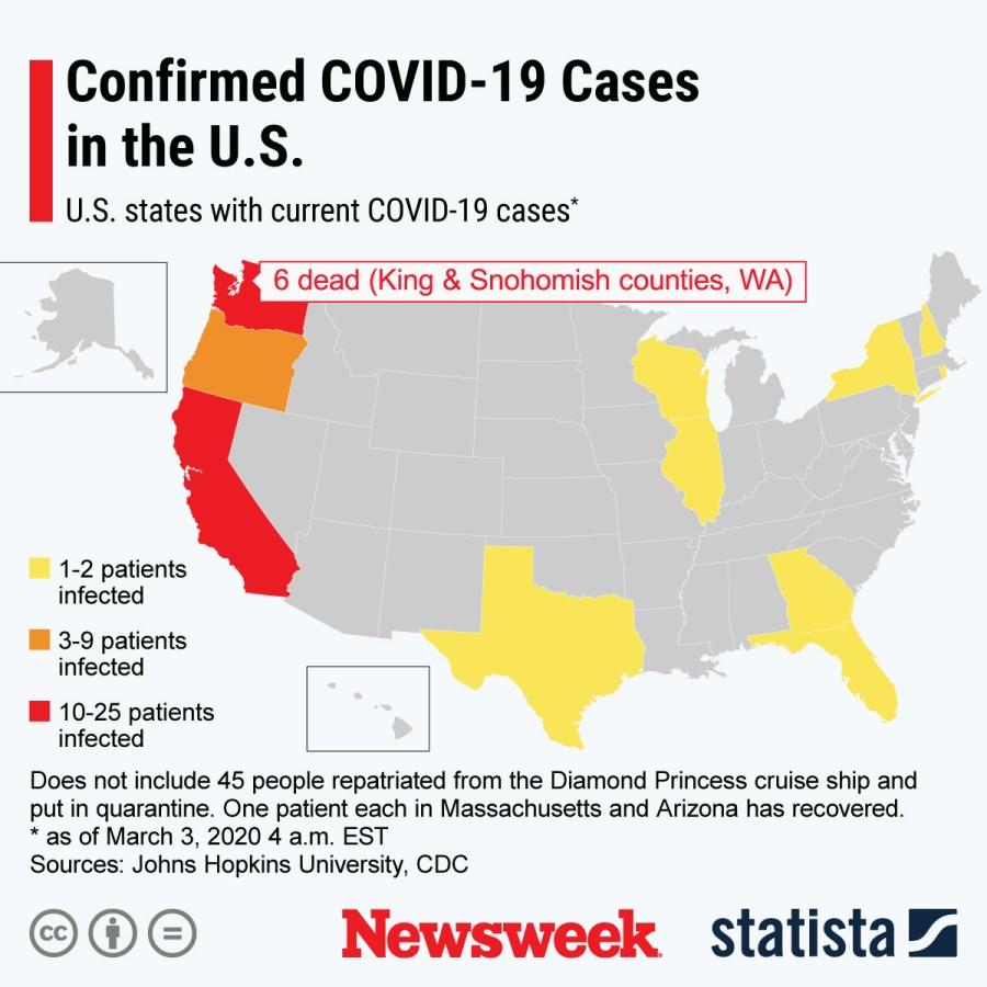 Coronavirus U.S. Outbreak Update As New Cases Confirmed in Georgia ...