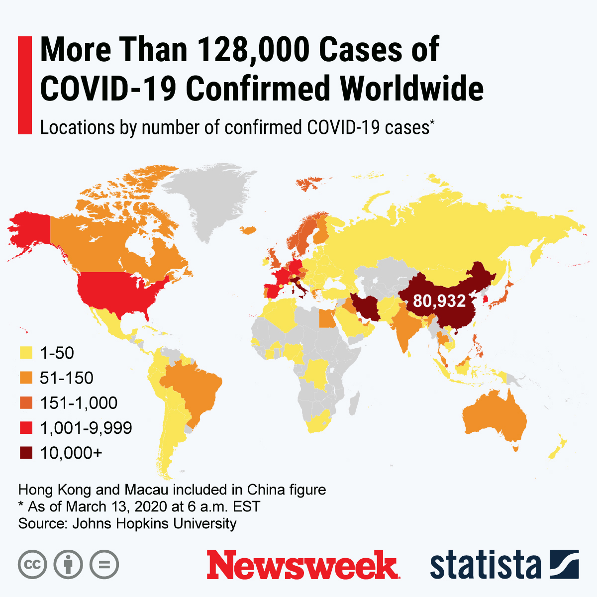 Coronavirus Update, Map With Nearly 128,000 Cases, Death Toll Near ...
