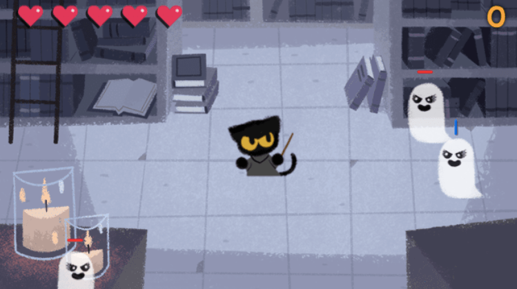 Halloween Google Doodle Brings Back Momo For New Magic Cat Academy Game