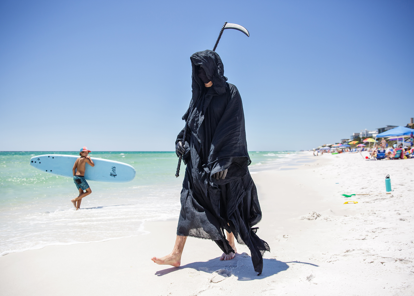 'I'm Patrolling Florida's Overflowing Beaches As the Grim Reaper'
