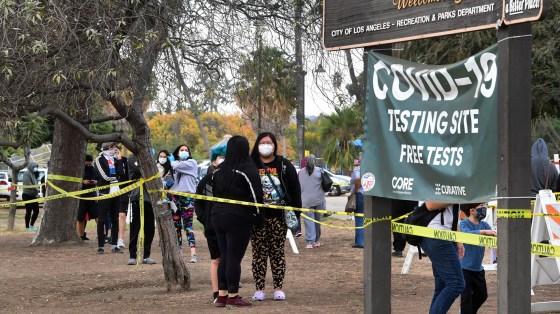 The Los Angeles coronavirus was spreading