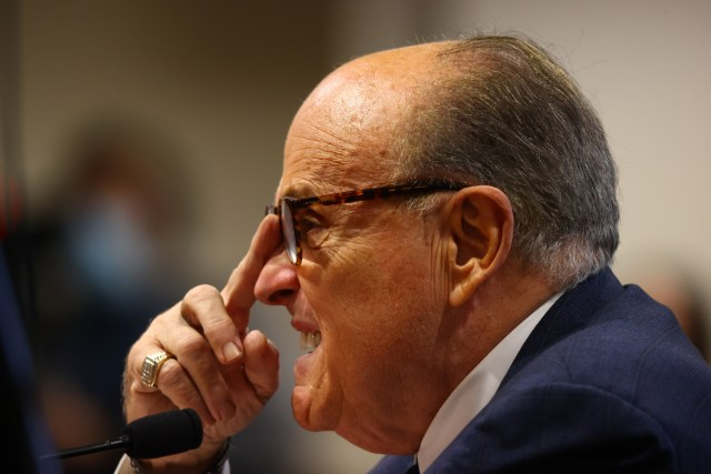Rudy Giuliani Appears Before Michigan State Legislature's