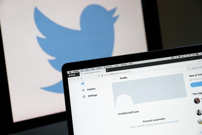 Trump suspended Twitter account
