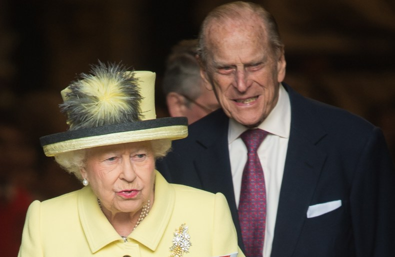 Prince Philip Walks Two Steps Behind Queen