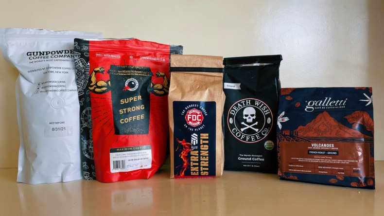 Five bags of strong coffee
