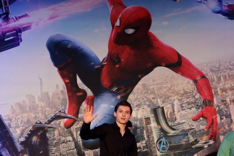 Tom Holland at Spider-Man press conference