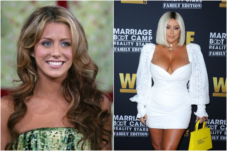 Aubrey O'Day then and now